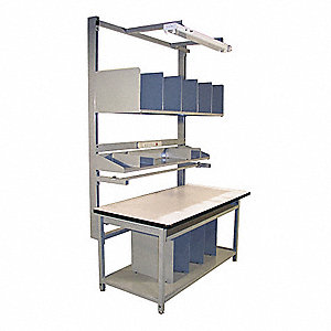 "Bolted Workstation, ESD Laminate, 30"" Depth, 30"" to 36"" Height, 60"" Width, 750 lb. Load Capacity"