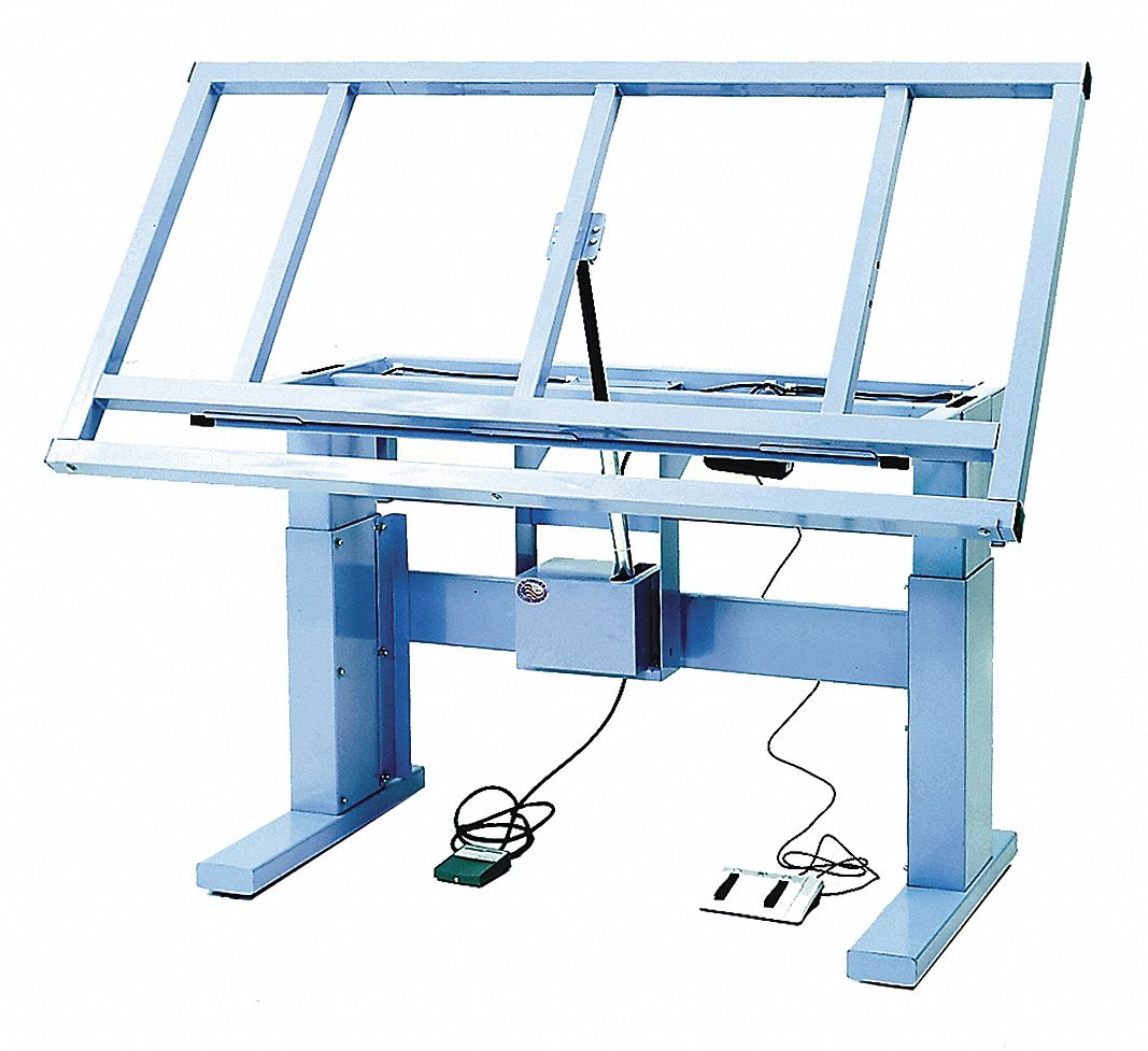 "PRO-LINE Electric Workbench, Steel, 36"" Depth, 24-1/2"" to 40-1/2"" Height,  72"" Width, 600 lb. Load Capacity - 16D768