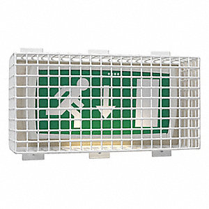 Wire Guard, For Use With Exit or Emergency Lights