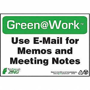 SIGN GREEN AT WORK USE EMAIL 7X10