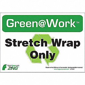 RECYCLE SIGN STRETCH WRAP 5/PK