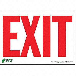 SIGN EXIT WHITE-RED 7X10 SA