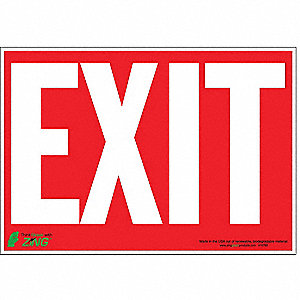 SIGN EXIT RED-WHITE 7X10 SA