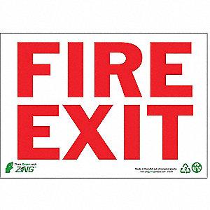 SIGN FIRE EXTINGUISHER 7X10 PLASTIC