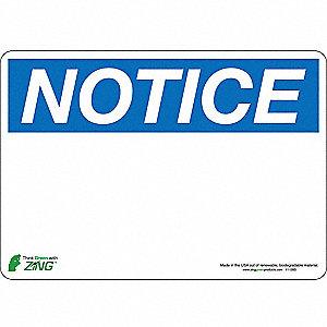 SIGN NOTICE BLANK 7X10 SA
