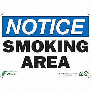 SIGN NOTICE SMOKING 7X10 PL