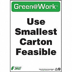 SIGN GREEN AT WORK CARTN SIZE 14X10