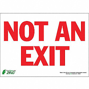 SIGN NOT AN EXIT 10X14 SA