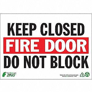 SIGN FIRE DOOR CLOSED 10X14 PL