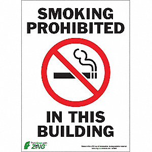 SIGN SMOKING PROHIBITED 14X10 SA
