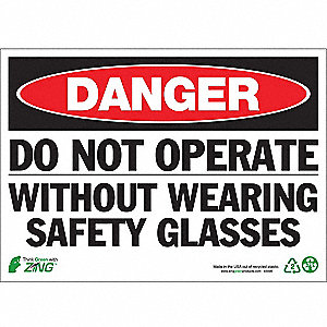 SIGN DANGER NO OPERATE 10X14 PL
