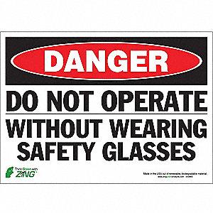 SIGN DANGER NO OPERATE 10X14 SA