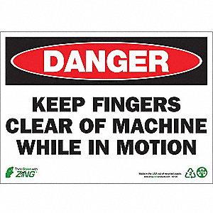 SIGN DANGER KEEP CLEAR 10X14 PL