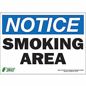 SIGN NOTICE SMOKING 10X14 SA