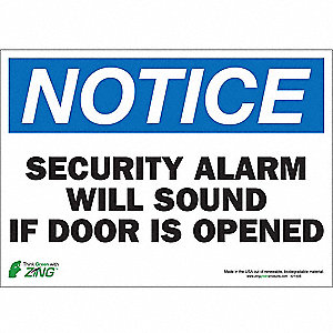 SIGN NOTICE SECURITY 10X14 SA