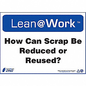 LEAN SIGN,HOW CAN SCRAP BE REDUCED