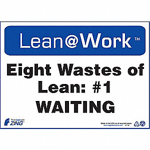LEAN SIGN,EIGHT WASTES WAITING