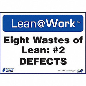 LEAN SIGN,EIGHT WASTES DEFECTS