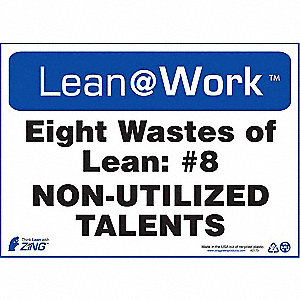 LEAN SIGN,EIGHT WASTES TALENT