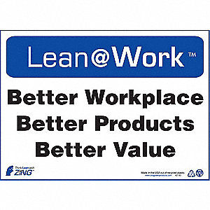 LEAN SIGN,BETTER WORKPLACE
