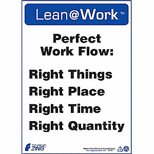 LEAN SIGN,PERFECT WORK FLOW