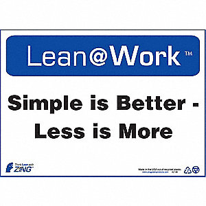 LEAN SIGN,SIMPLE IS BETTER