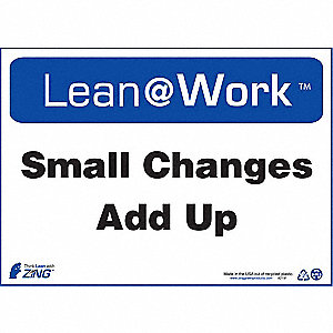 LEAN SIGN,SMALL CHANGES ADD UP