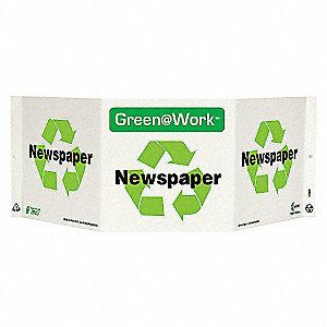 SIGN GREEN AT WORK NEWSPAPER TRI