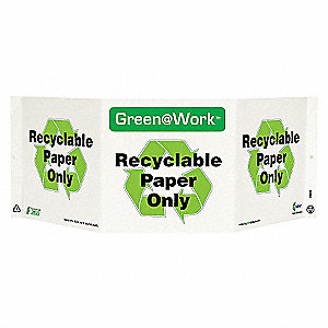SIGN GREEN AT WORK PAPER ONLY TRI