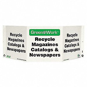 SIGN GREEN AT WORK CATALOGS TRI