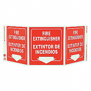 SAFETY SIGN,FIRE EXTINGUISHER
