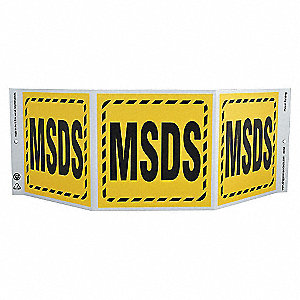 SAFETY SIGN,MSDS,3-SIDED