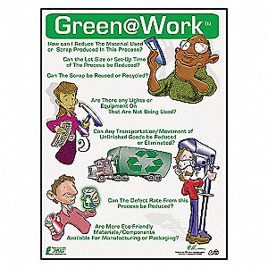 POSTER GREEN AT WORK MANUFACTURING