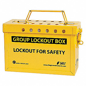 GROUP LOCKOUT BOX ,STAINLESS STEEL
