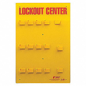 LOCKOUT STATION,12 PADLOCK,UNSTOCKD