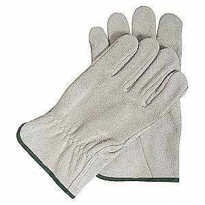 DRIVERS GLOVES,SPLIT LEATHER,GRAY,S