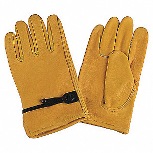 DRIVERS GLOVES,COWHIDE,S,GOLD,PR
