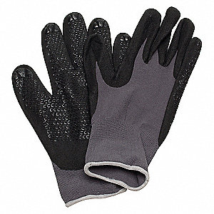 COATED GLOVES,S,BLACK/GRAY,PR
