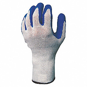 COATED GLOVES,L,BLUE/NATURAL,PR