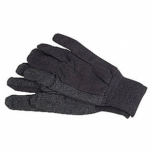 GLOVES JERSEY POLY/COTTON S BROWN