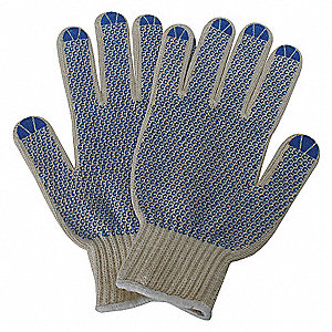 KNIT GLOVE,POLY/COTTON,MENS L,PR