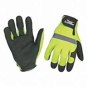 GLOVE,MECHANICS,HI VIS,HOOK/LOOP,L,