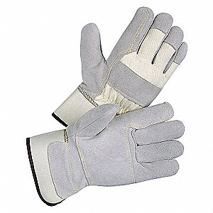 LEATHER GLOVES,DOUBLE PALM,S,PR