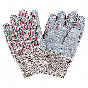 LEATHER GLOVES,RED STRIPED,S,PR