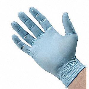 DISPOSABLE GLOVES,NITRILE,M,BLUE,PK