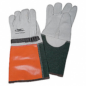ELEC. GLOVE PROTECTOR,11,GRY/ORNG/B