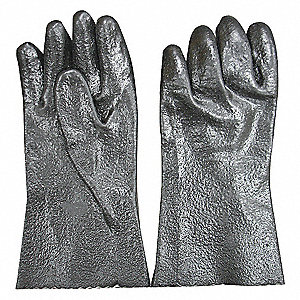 CHEMICAL RESISTANT GLOVE,PVC,12IN L