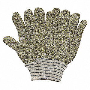 GLOVES HEAT RESIST GREEN/NATURAL