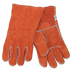 WELDING GLOVES,STICK,14IN.L,PR
