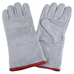 WELDING GLOVES,STICK,14IN. L,PR